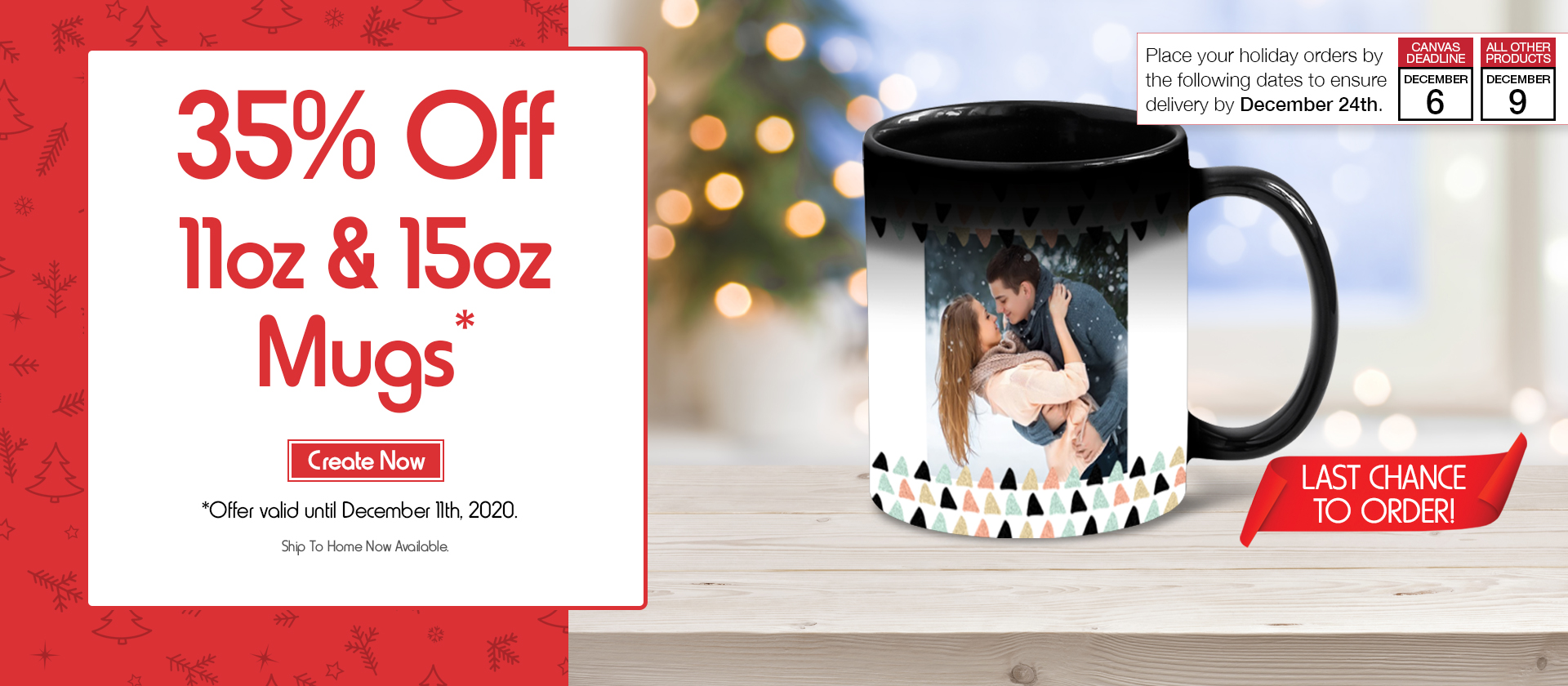 35% Off 11oz & 15 oz Mugs. Create yours now.