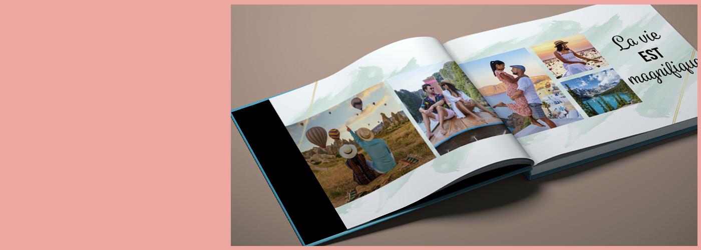 LivresPhoto de mariage à thème hivernal. Personnalisez votre album maintenant.