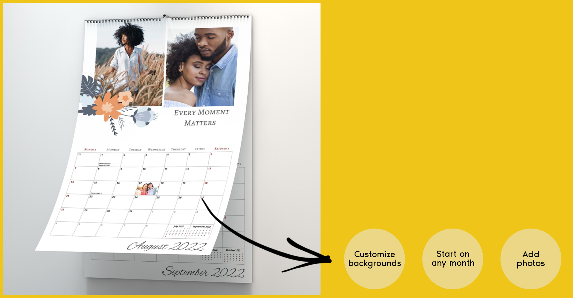 Customized Photo Canvas of Winter/ Holiday memories showcased on living room walls. Photo Canvas on living room walls. Customize yours now.
